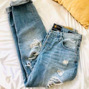 Lucky Brand Dylan Distressed Boyfriend Jeans